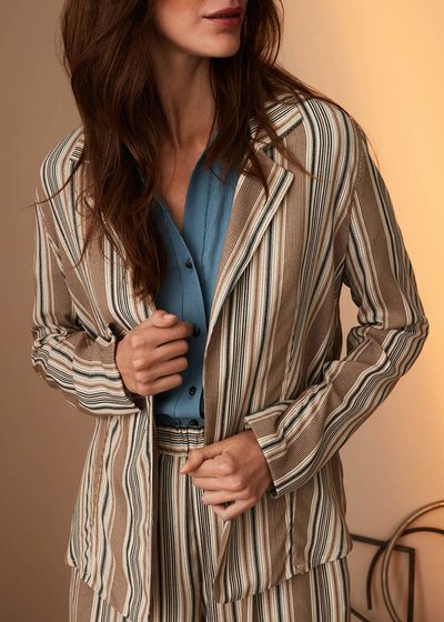Carl deconstructed pinstripe jacket