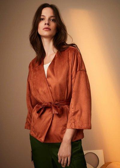 Megan shrug in paired fabric