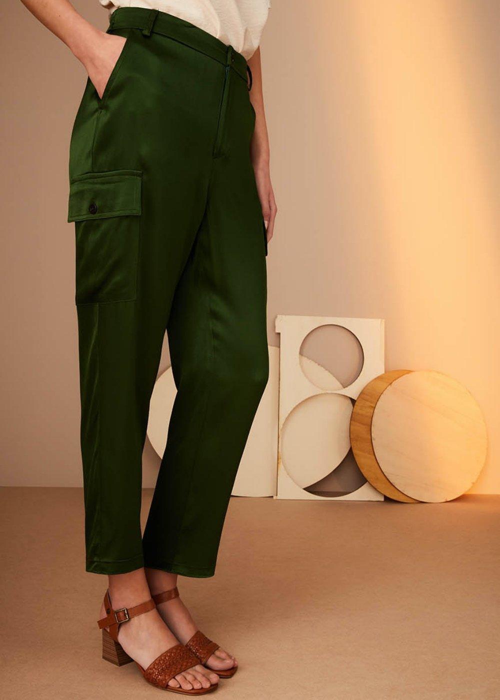 Pantalone Peleo in tessuto bambù - Foresta - Donna