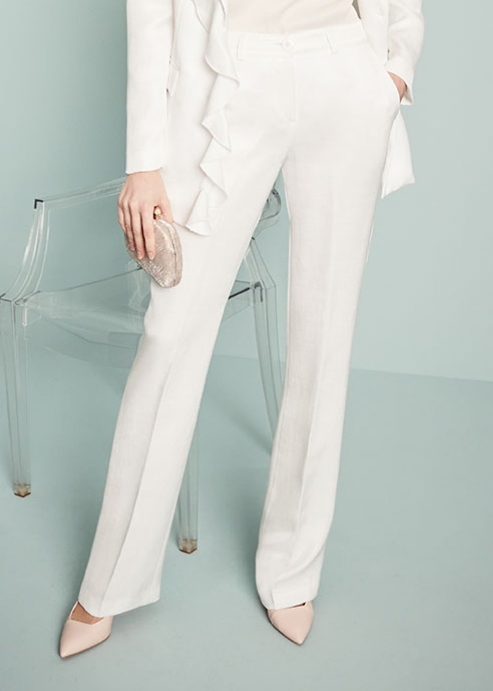 Clair trousers - White - Woman