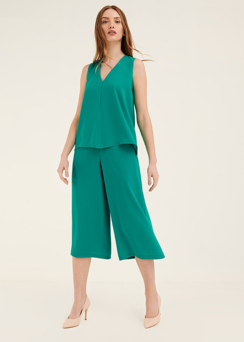 Megan trousers with buttons - Smeraldo - Woman