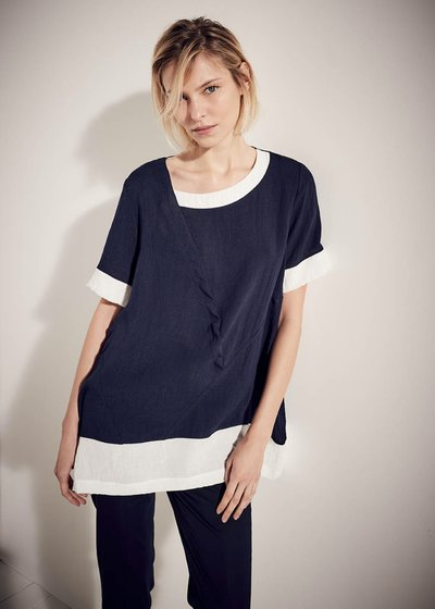 Salem t-shirt with contrasting insets