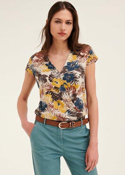 T-shirt Elena scollo incrocio