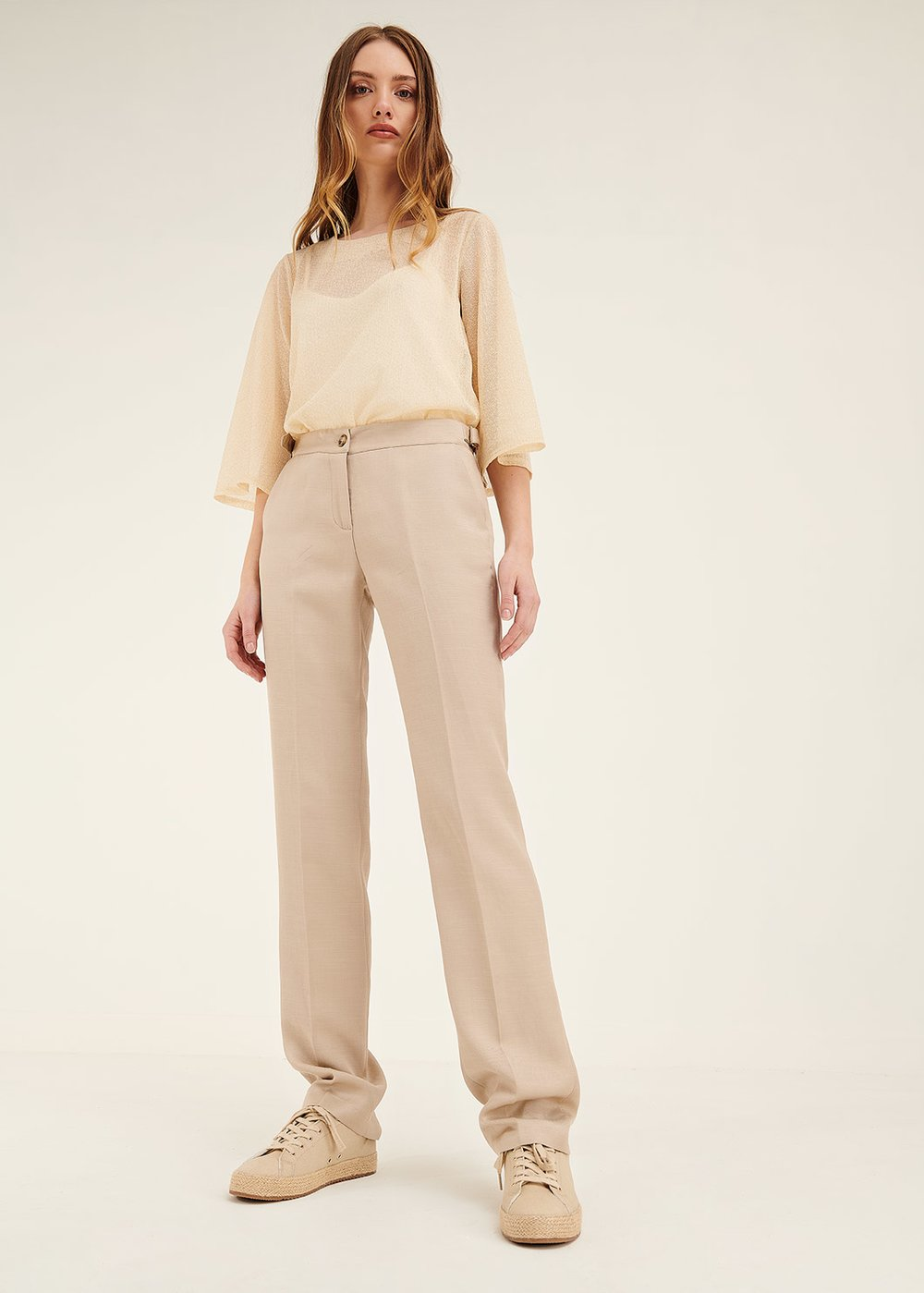Alice linen and viscose trousers - Safari - Woman