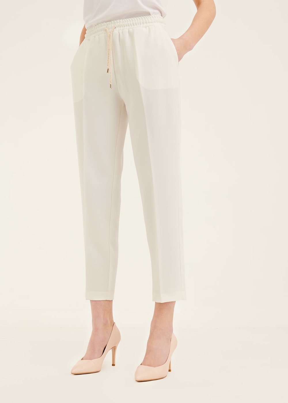 Cara trousers with drawstring waist - White - Woman