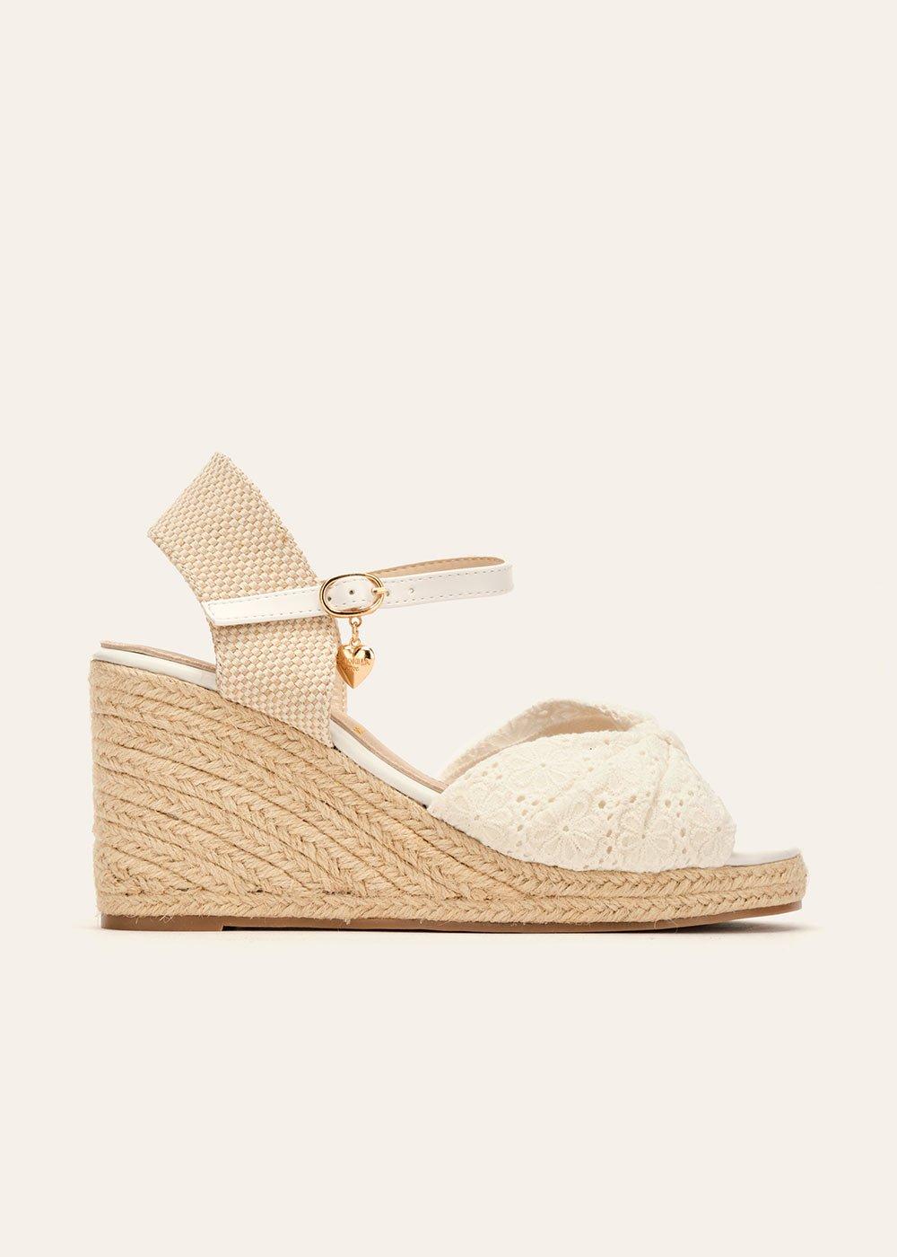 Scarpa Sakira modello espadrillas - White - Donna