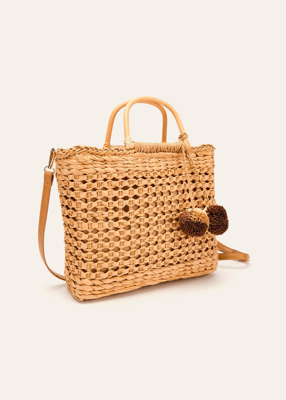 Beverly woven straw shopping bag - Safari - Woman