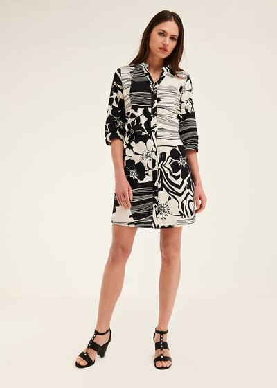 Alexander dress with macro two-tone pattern