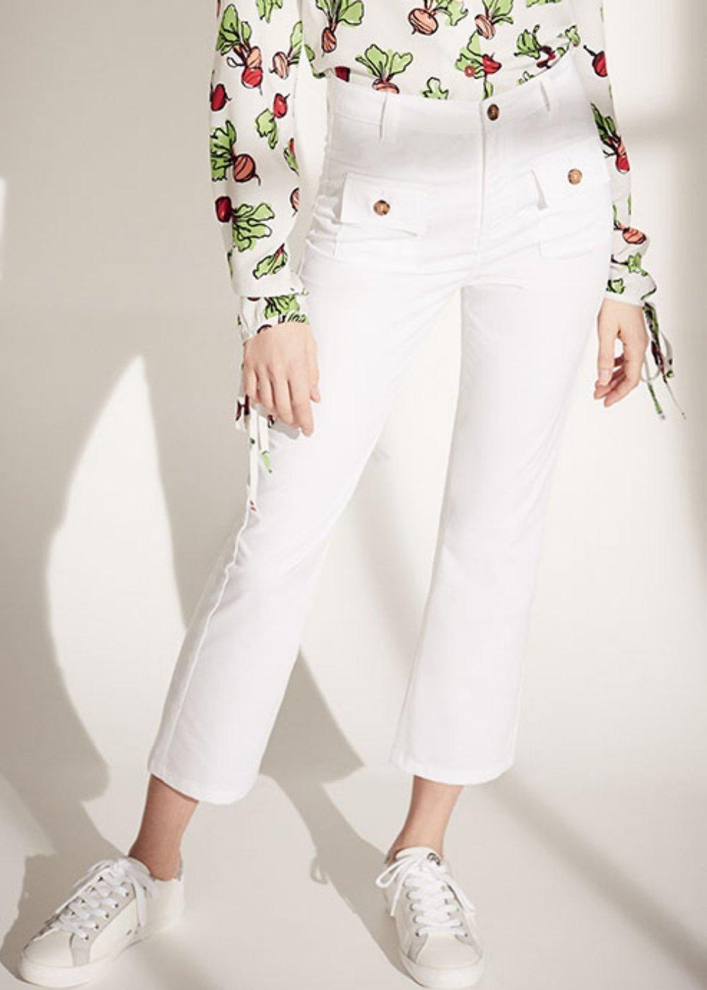 Pantalone Cindy con tasche sul davanti - White - Donna