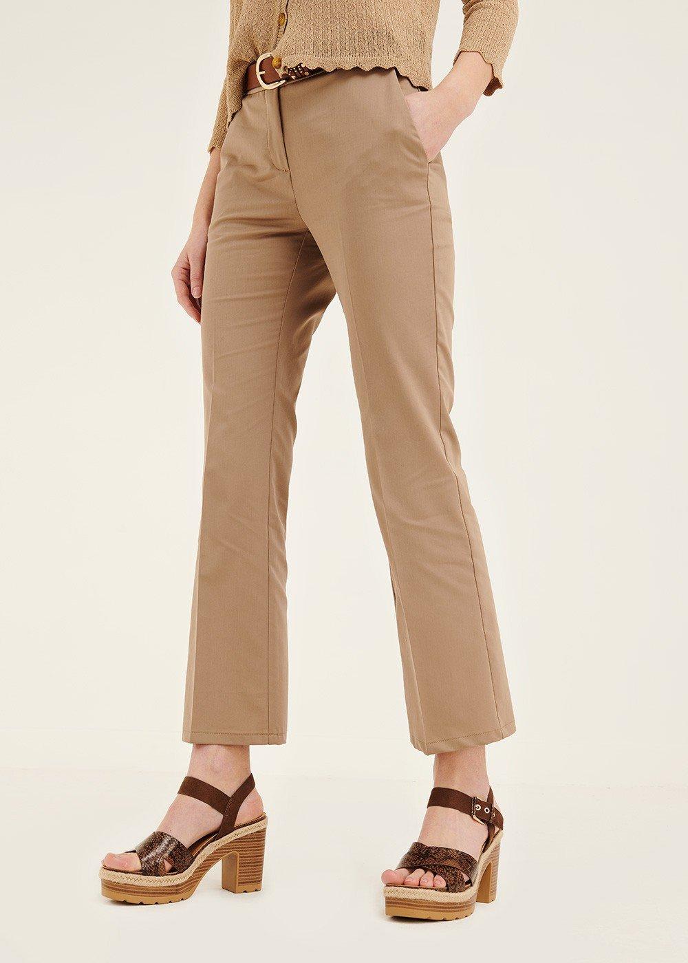 Jacquelin cotton trousers - Desert - Woman