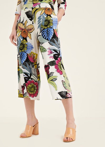 Megan floral print trousers