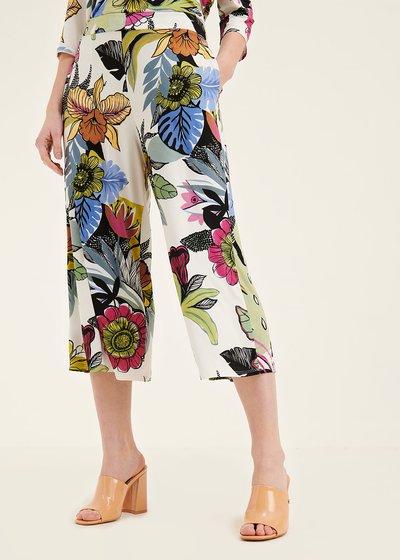 Pantalone Megan stampa fiorata