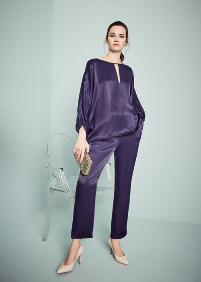 Cara trousers with elastic waistband