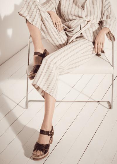 Pantalone Megan in cotone lino