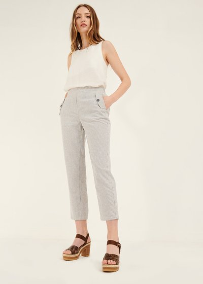 Cara trousers with flap pockets