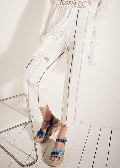 Sara macro pinstripe trousers
