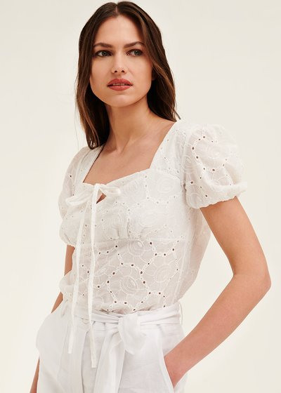 Kelly broderie anglaise shirt