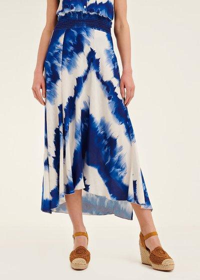 Cara tie-dye patterned skirt