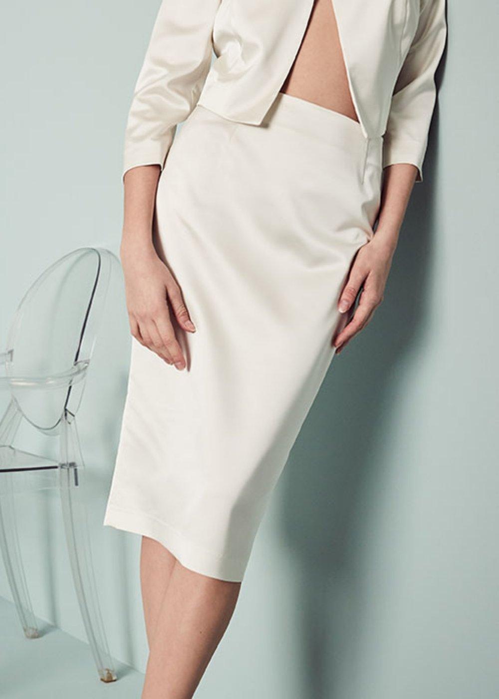 Elisabeth skirt with slit - Brezza - Woman
