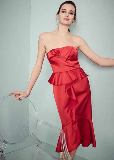 Alfred dress with bustier and ruffles