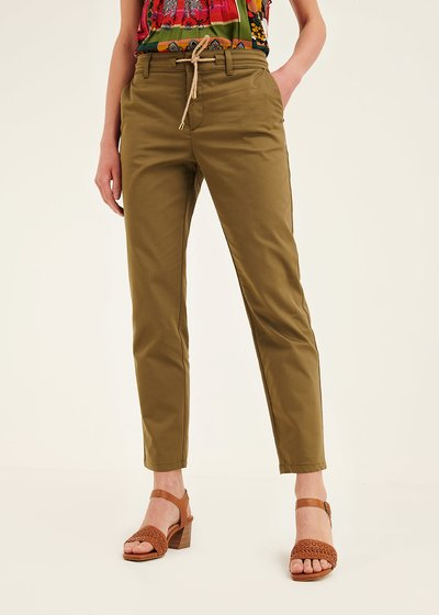 Alice cotton trousers with drawstring