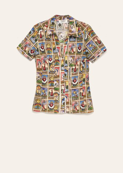 Scarlett tarot print shirt