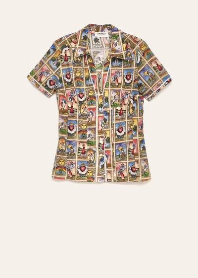 Camicia Scarlett stampa tarocchi