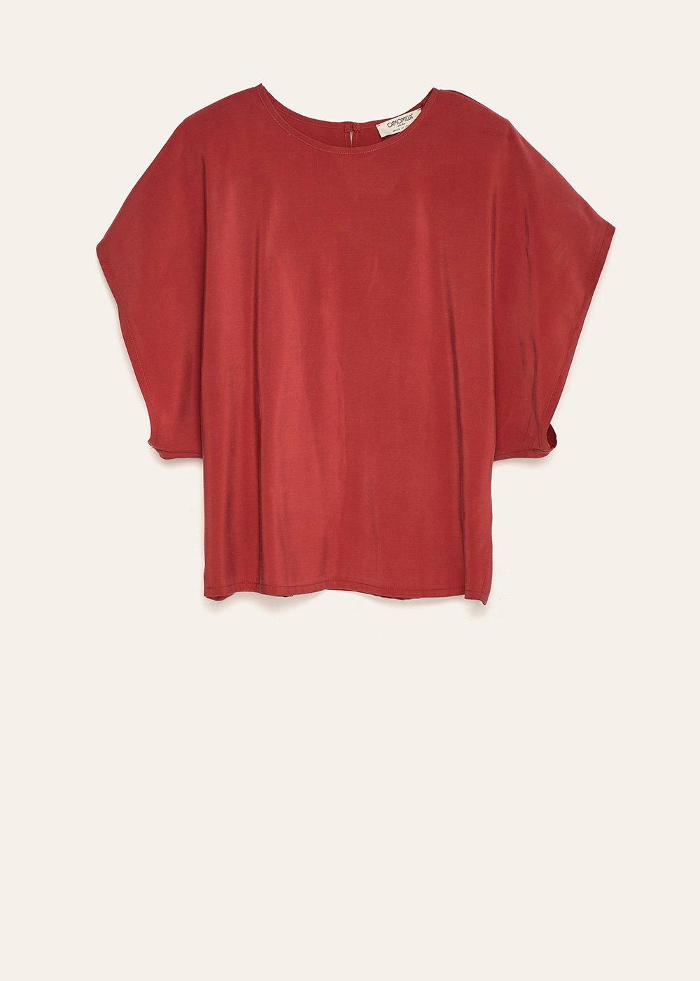 Cloe boat-neck rayon blouse - Anemone - Woman