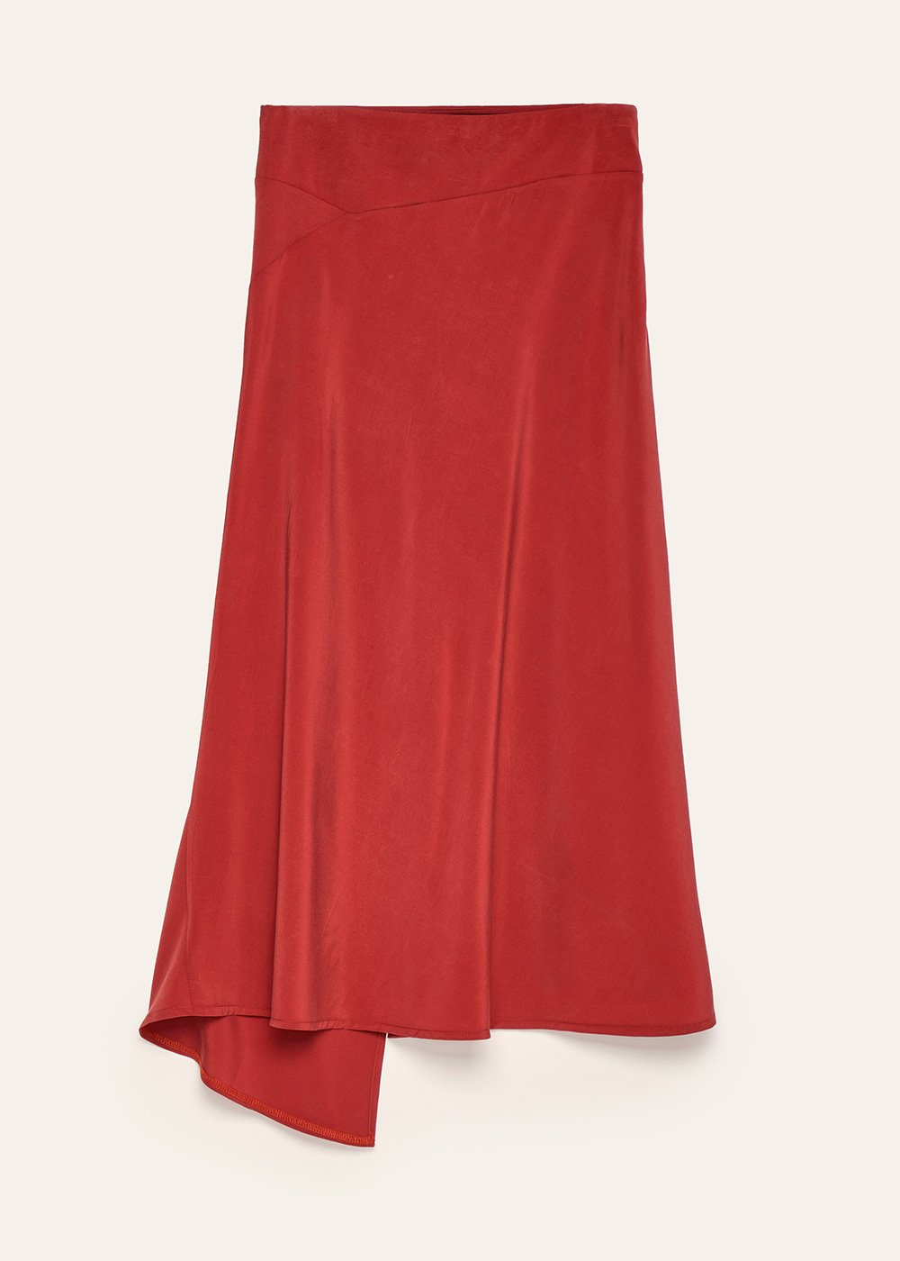 Scarlett rayon skirt with slit - Anemone - Woman
