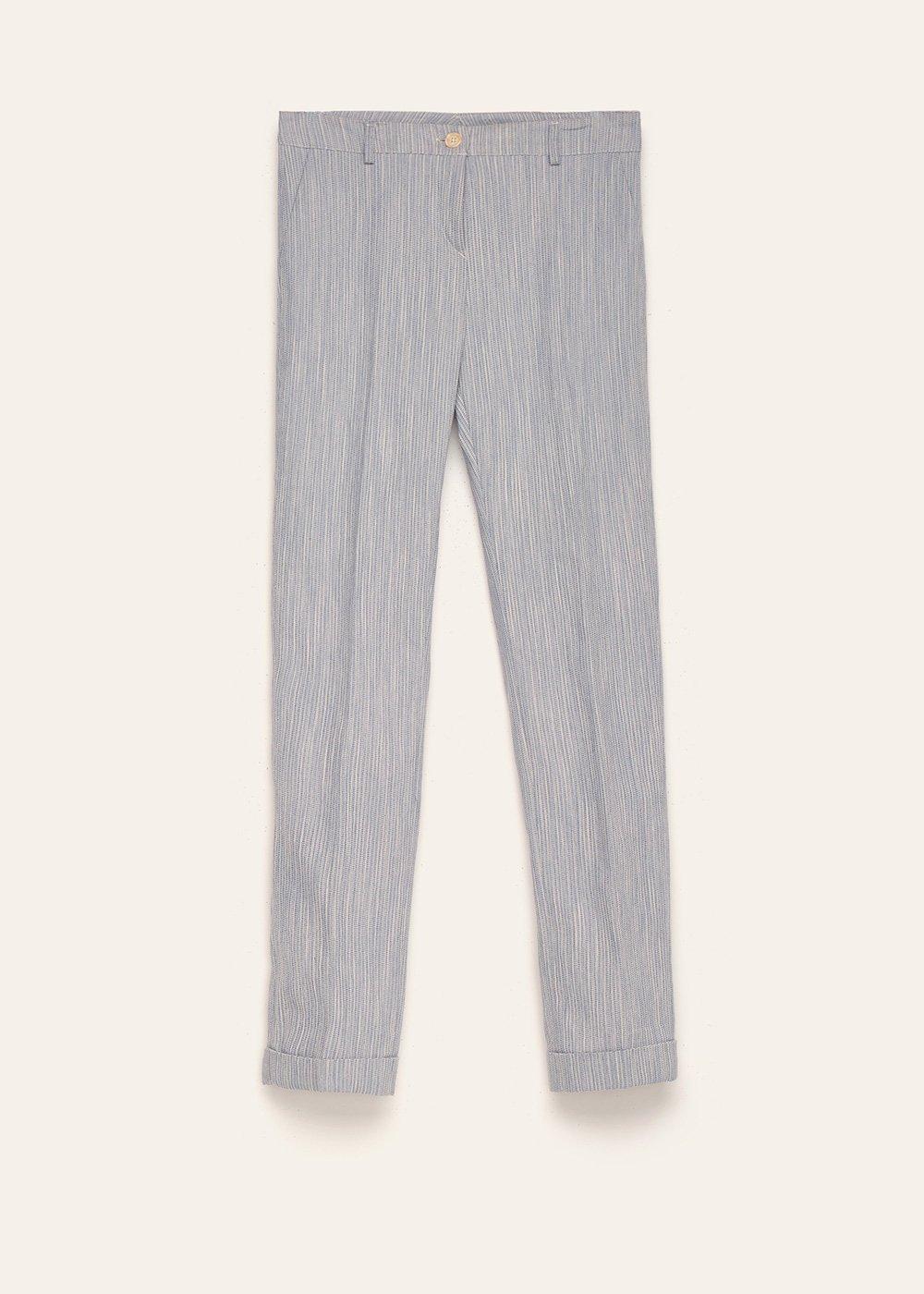 Pantalone Bella in cotone effetto rigato - Avion - Donna