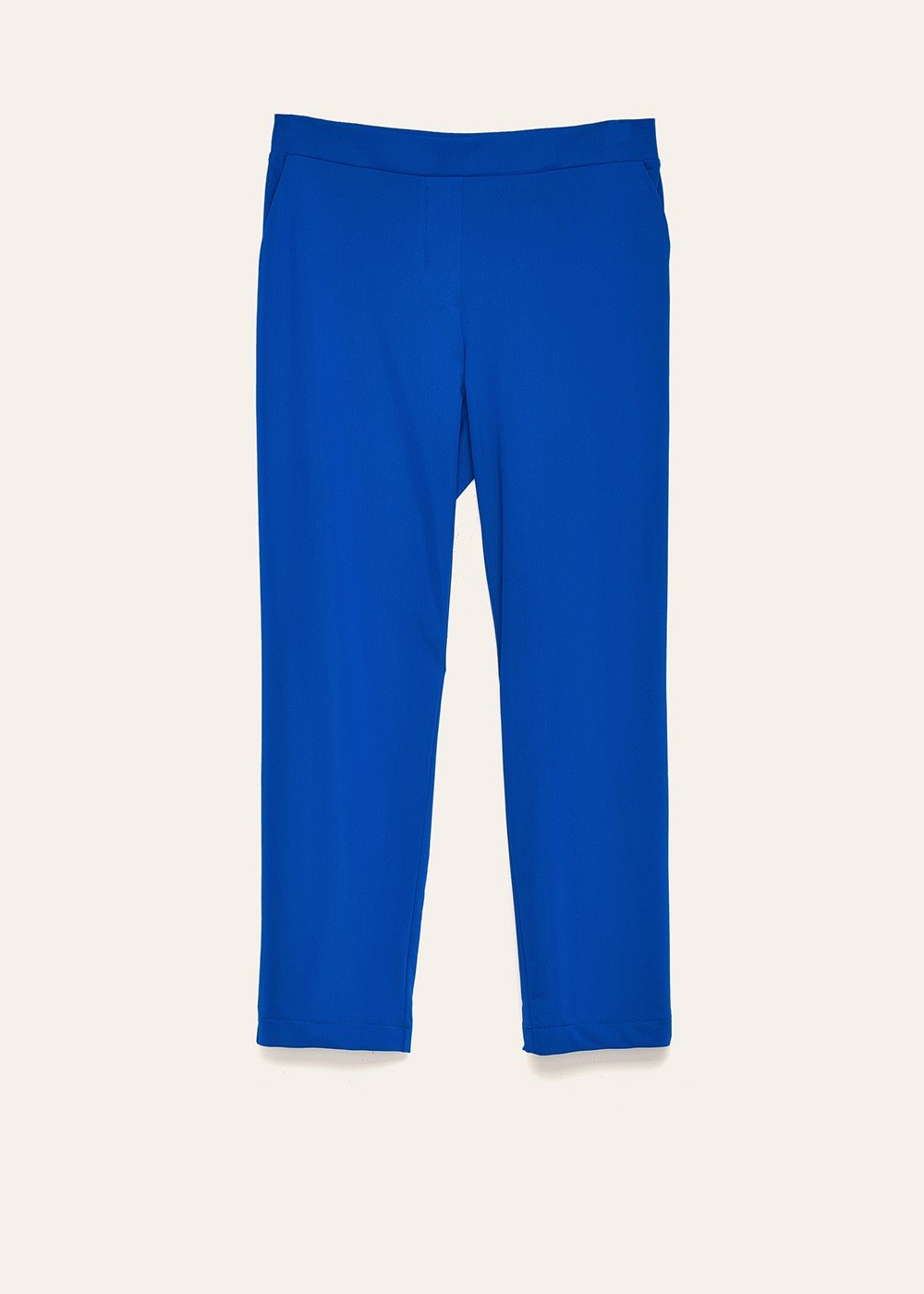 Cara elastic trousers in technical fabric - Blue - Woman