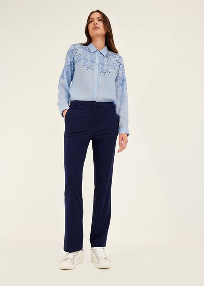 Jacquelic trousers in technical fabric