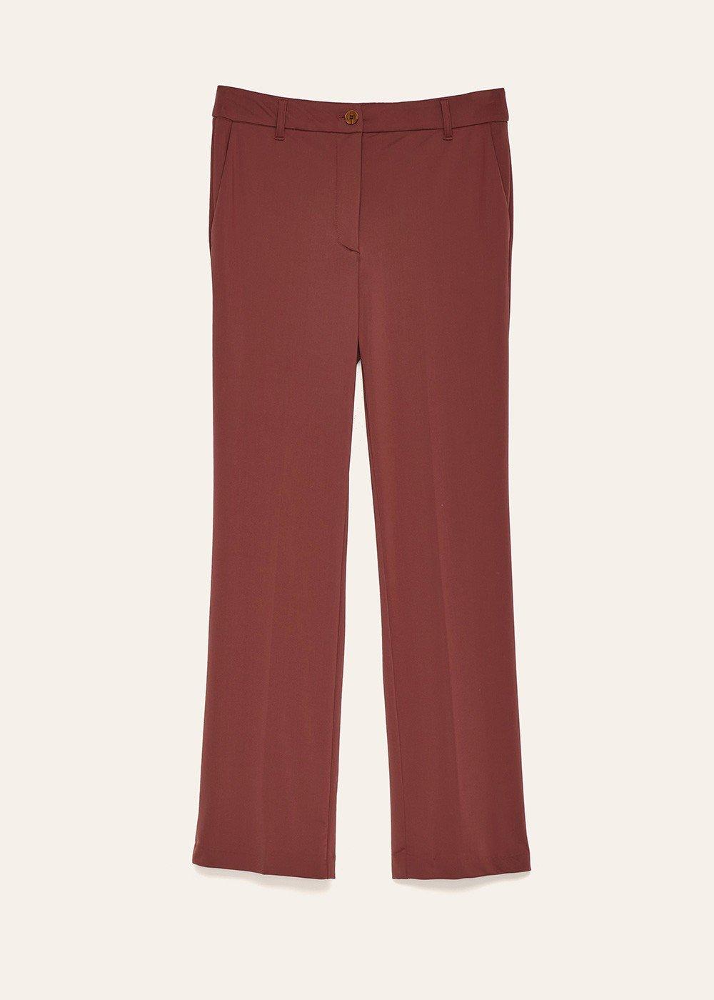 Pantalone Jacqueli tessuto tecnico - Terra - Donna