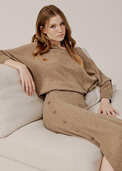 Gaia Midi Skirt with Side Slit