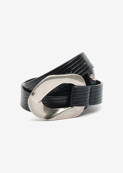 Carley Python Print Belt