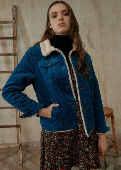 Gil Ribbed Velvet Jacket