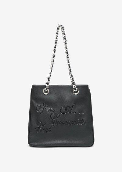 Shopping bag Mini Camo Girl stampa Saffiano