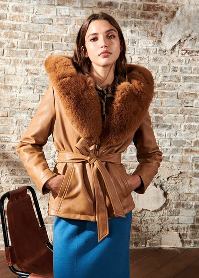 Gailor jacket in eco-leather