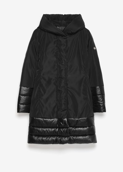 Parker down jacket with taffeta inserts