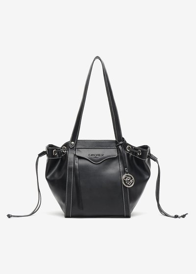 Bryony, eco leather bag with drawstring