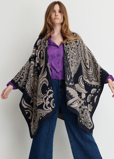 Malaysia cape with cashmere print