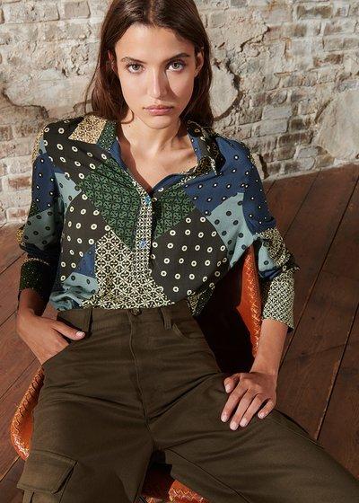 Camicia Clizia con Fantasia Patchwork