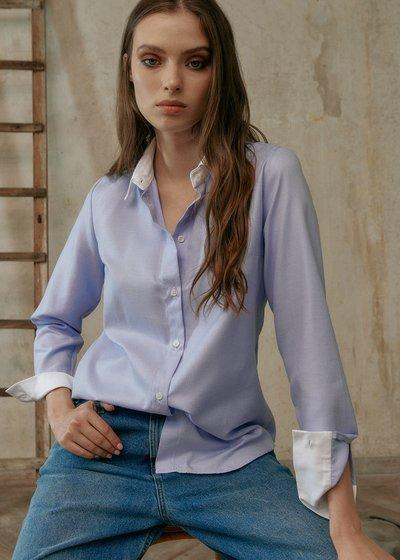 Camicia Alessia con Polsini a Contrasto