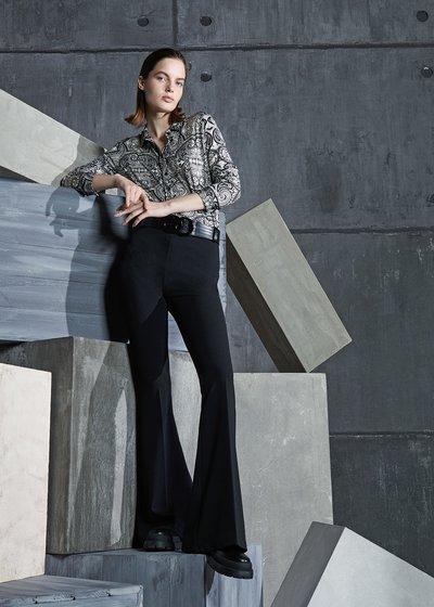 Victoria Crepe Pants in Black