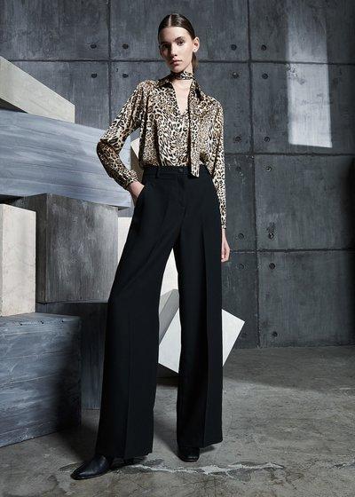 Piero Flared Trousers in Black