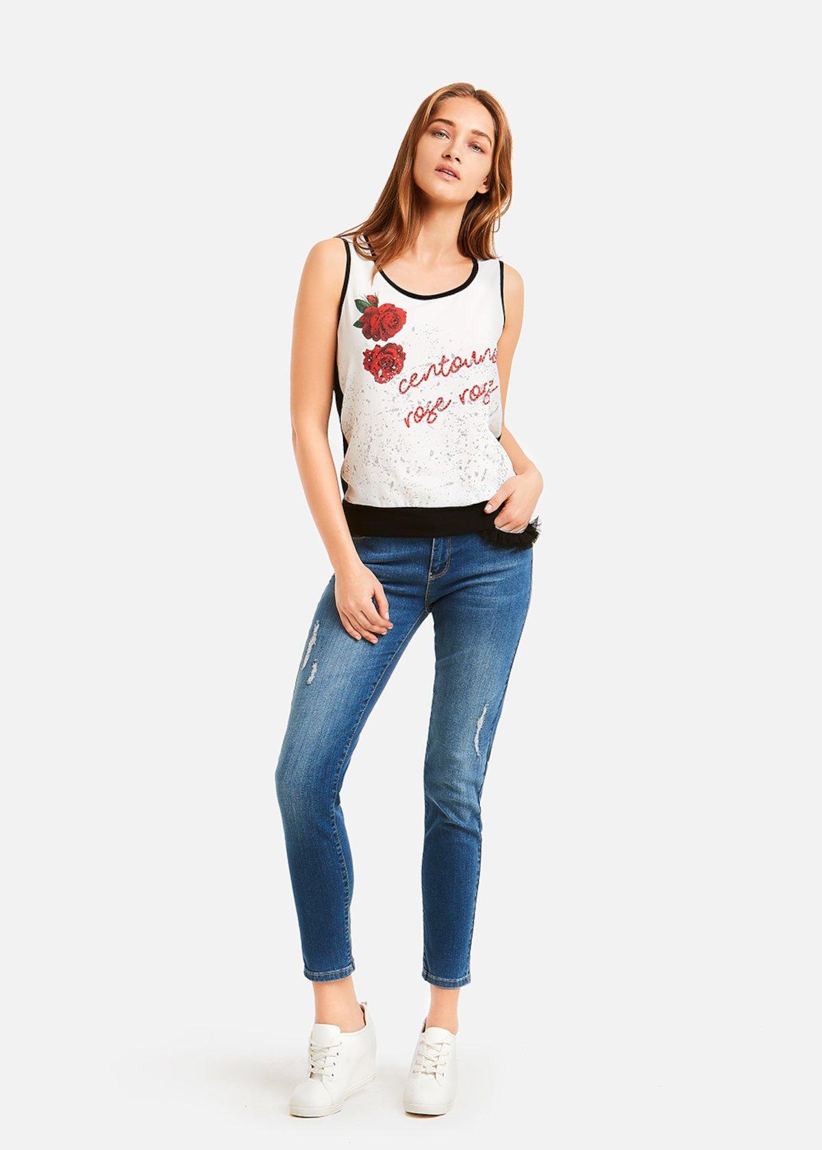 Dider 5 Pocket skinny jeans - Medium Denim - Woman