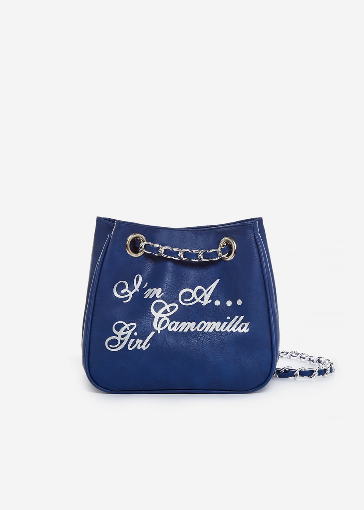 Micro Camo Girl printed silver bag - Blue