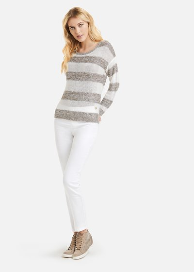 Melany sweater stripe fantasy with sequins