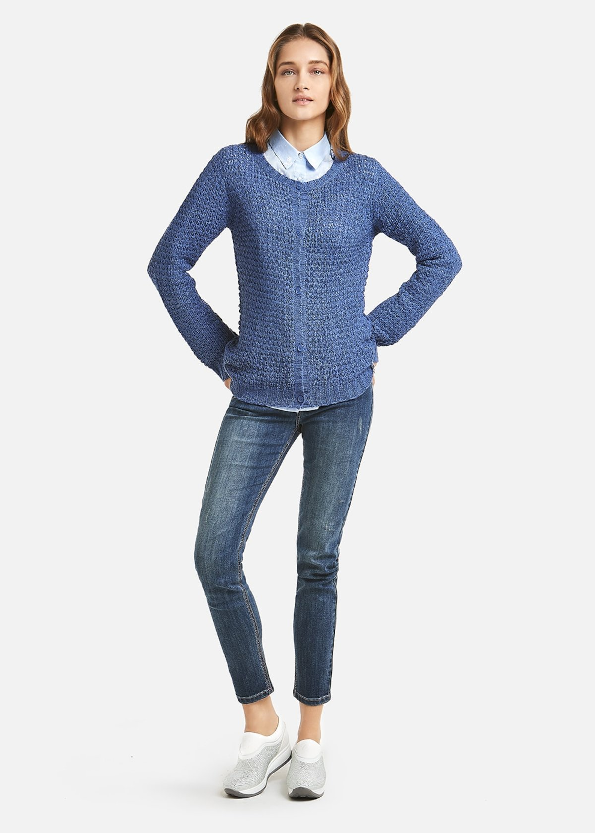 Honeycomb Clark Cardigan - Blue