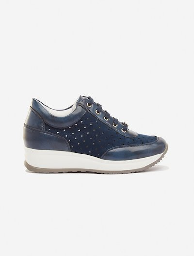 Sneakers Siria laminated detail - Dark Blue